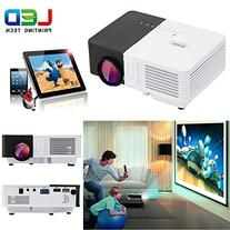 Portable Wifi Wireless Projector, CAIWEI Mini Smart LED Home