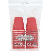 2oz Mini Red Plastic Shot Glasses, 20pk