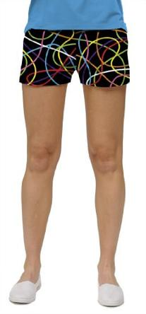 Loudmouth Golf Womens Mini Shorts: Scribbles / Scribblz -