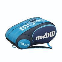 Wilson Mini Tour 6 Pack Tennis Bag Blue