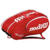 Wilson Mini Tour 6 Pack Tennis Bag Red