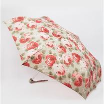Cath Kidston Minilite Aubrey Rose Print Umbrella in Stone