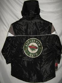 Minnesota Wilds Black NHL Youth Bubble Jacket with Removable