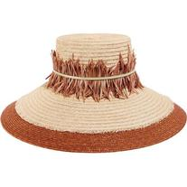 Eugenia Kim Mirasol feather-trimmed hemp sunhat
