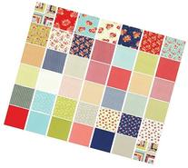 Moda Miss Kate Prints Charm Pack, 42 5-inch Cotton Fabric