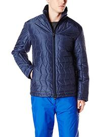 Tumi Men's Mission 3D Quilted Puffer Jacket, Twilight, X-