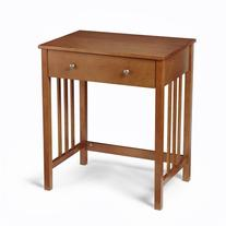 """26"""" Mission Style Compact Computer Desk with Flip Down Front"""