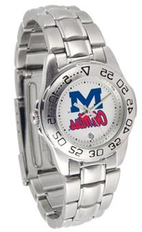 Mississippi  Rebels Gameday Sport Ladies' Watch with a Metal