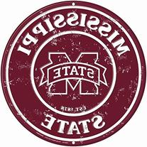 Mississippi State 12 Inch Embossed Metal Nostalgia Circular