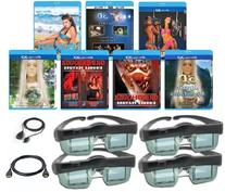MITSUBISHI Compatible 3D Glasses Deluxe Movie Pack  for ALL