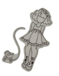 Mixed Media Doll Cling Rubber Stamps-Little Girl With Toy