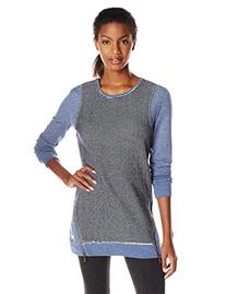Kensie Performance Women's Mixed Media Tunic, Ink, Large