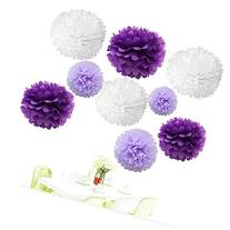 "Since®18Pcs of 8"" 10"" 14"" 3 Colors Mixed White Purple and"