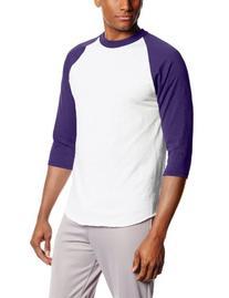 MJ Soffe Men's 3/4 Sleeve Baseball Jersey, Medium, Gold