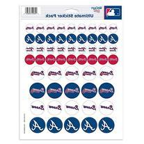 """MLB Atlanta Braves Vinyl Sticker Sheet, 8.5"""" x 11"""