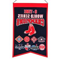 MLB Boston Red Sox 8-Time WS Champions Banner, Small, Red