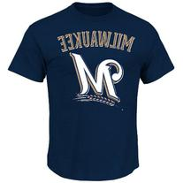 MLB Milwaukee Brewers Men's Brewers Logo with City Tee, XX-