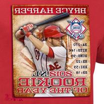Bryce Harper Washington Nationals 2012 Rookie of the Year T-