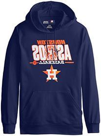 MLB Houston Astros Men's SA2 Fleece Hoodie, Navy, X-Large