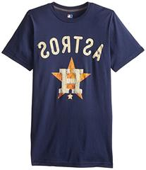 MLB Houston Astros Men's 58W Tee, Navy, Large