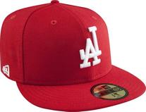 MLB Los Angeles Dodgers Scarlet with White 59FIFTY Fitted