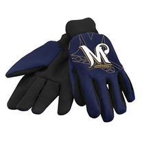 MLB Milwaukee Brewers 2014 Raised Logo Glove, Blue
