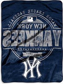 "MLB New York Yankees ""Structure"" Micro-Raschel Throw, Blue,"