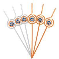 MLB New York Mets Six Pack Team Sip Sport Straws