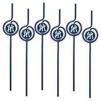 MLB New York Yankees Six Pack Team Sip Sport Straws