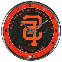 "MLB San Francisco Giants Chrome Clock, 12"" x 12"