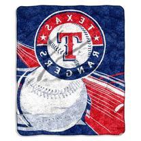 MLB Texas Rangers Big Stick Sherpa Throw Blanket, 50x60-Inch