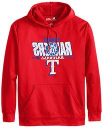 MLB Texas Rangers Men's SA2 Fleece Hoodie, Red, X-Large