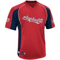MLB Washington Nationals Men's True Winner Crew Polo, Red/