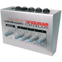 "Nady MM-141 4-Channel mono unbalanced Mini Mixer – ¼"""