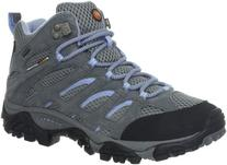 Merrell Women's Moab Mid Waterproof Hiking Boot,Grey/