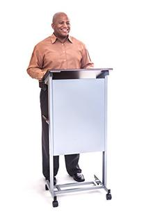 Stand Up Desk Store Mobile Adjustable Height Lectern Podium