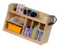 Steffy Wood Products Mobile Listening Center with Dividers