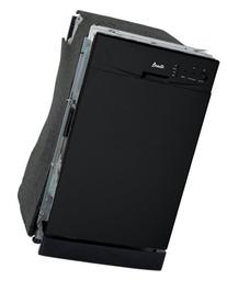 Avanti 18 Dishwasher SS Interior Black