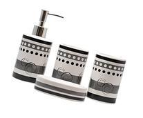 JustNile Modern 4-Piece Ceramic Bathroom Accessory Set -