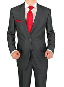 Salvatore Exte Men's Modern Two Button Sharkskin Suit