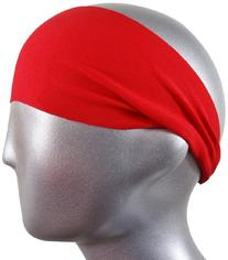 "Bondi Band Solid Moisture Wicking 4"" Headband, Red, One Size"