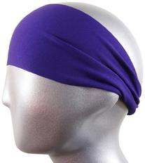"Bondi Band Solid Moisture Wicking 4"" Headband, Purple, One"