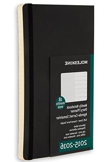 Moleskine 2015-2016 Weekly Notebook, 18M, Pocket, Black,