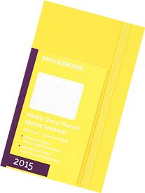 Moleskine 2015 Weekly Planner, Horizontal, 12 Month, Pocket