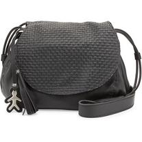 Henry Beguelin Molly Small Woven-Flap Messenger Bag