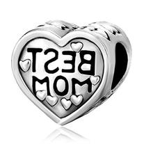 Pugster Heart Best Mom Love Charm Sale Cheap Jewelry Beads