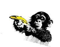 GB Eye Monkey Banana Shoot Poster