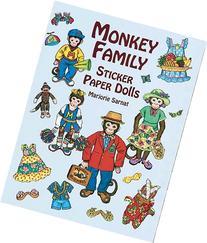 Monkey Family Sticker Paper Dolls