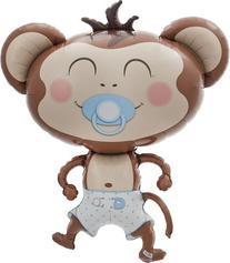 Baby Boy Monkey Helium Foil Balloon - 41 inch