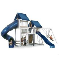 Congo Monkey Playsystem #3 with Swing Beam - White and Sand